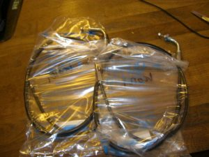 gas kabel set 112 - 113 cm lang