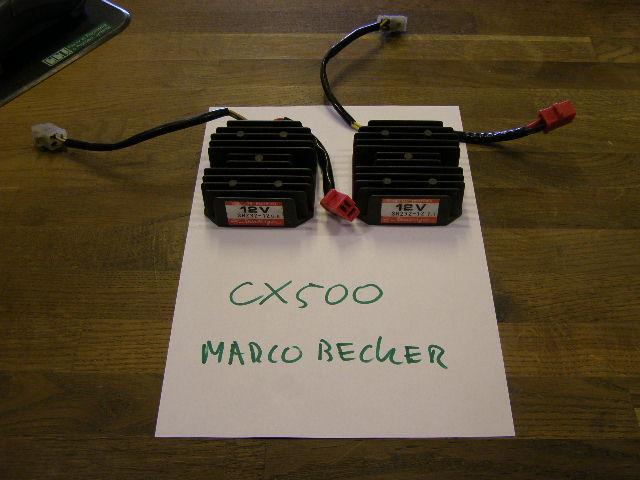 Spanningsgelijkrichter voor de CX500 en cx500c