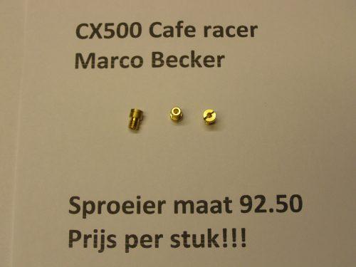 sproeier maat 92,50 sproeier cx500 gl500 cafe racer cx500c