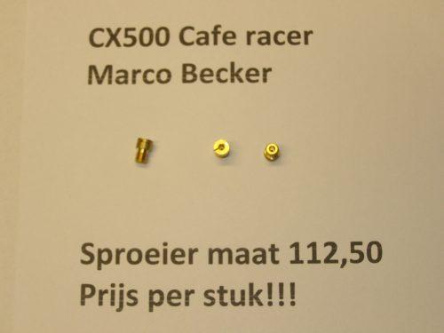 sproeier maat 112,50 cafe racer cx500 gl500 cx500e