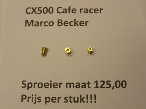 sproeier maat 125,00 cx500 cx500c cx500e gl500 cafe racer